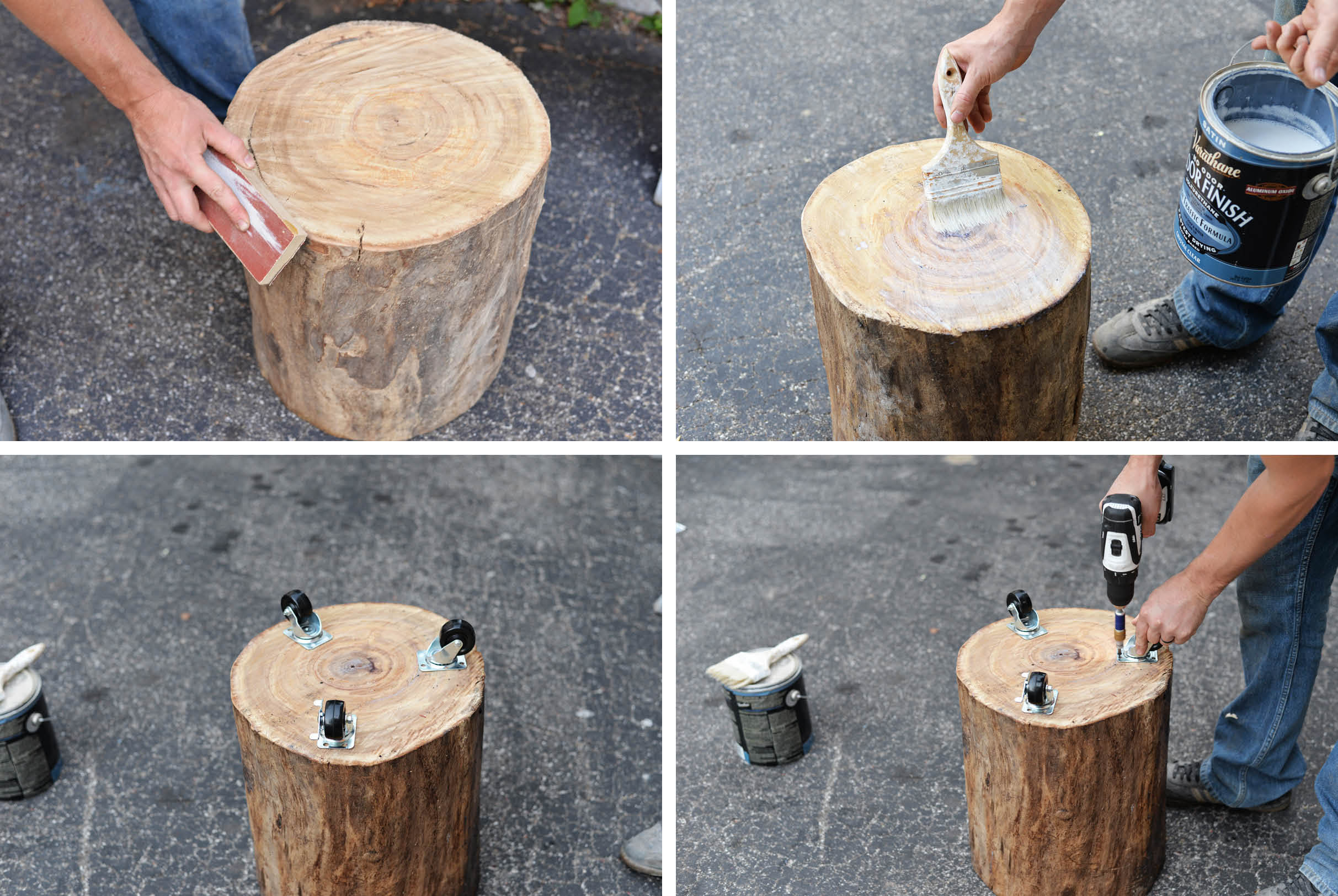 tree stump DIY