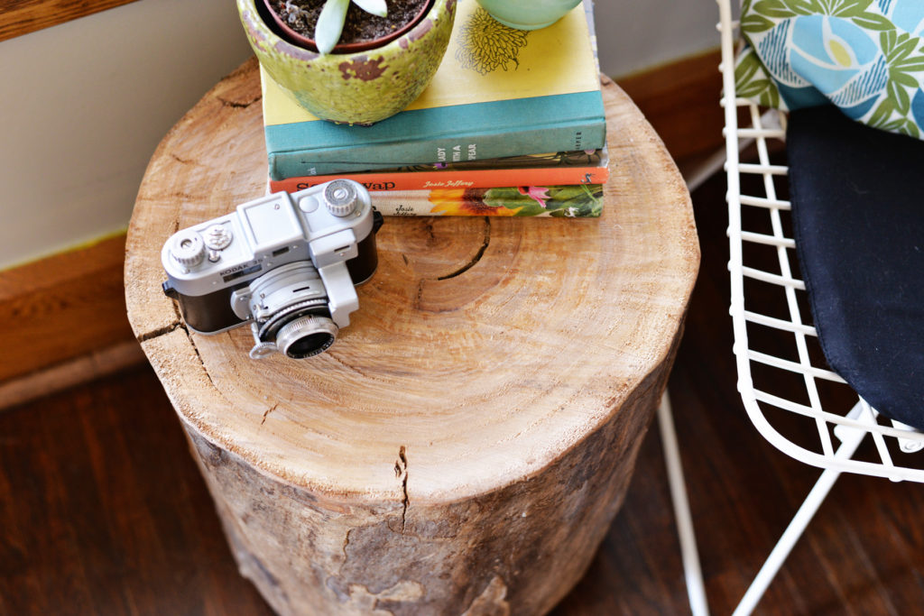 tree stump side table how to