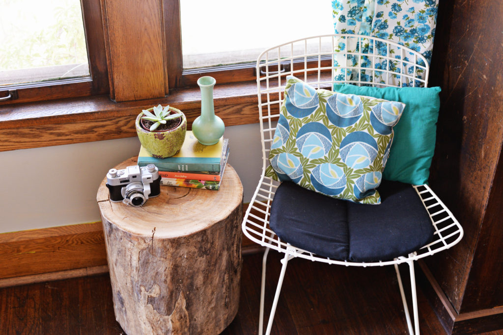 tree stump side table tutorial