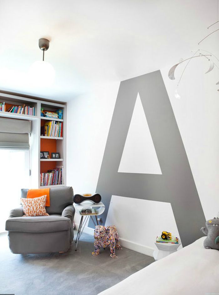 typographic designs - Interior Paint Design Ideas For Living Rooms