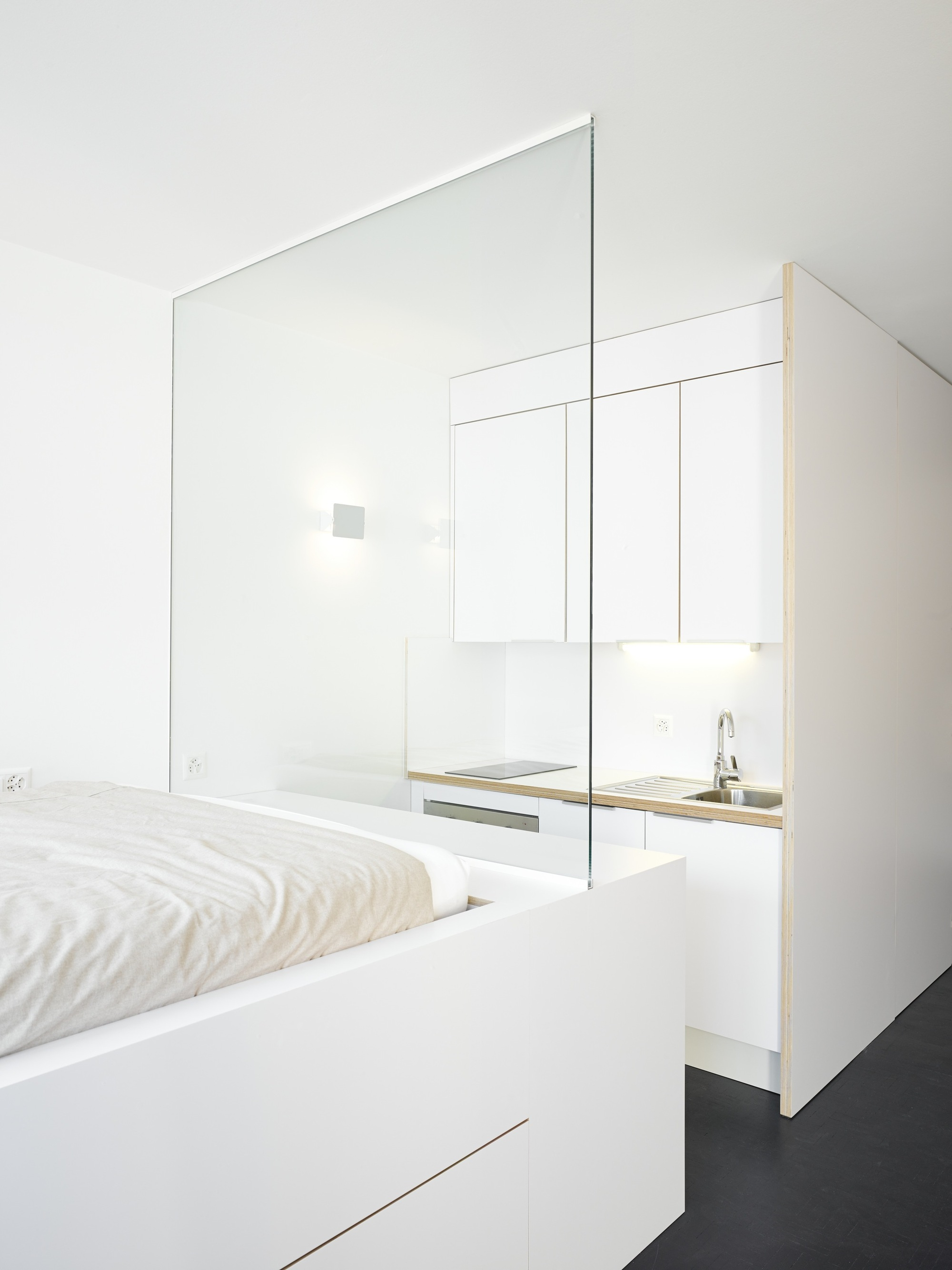 Small Flat In Geneva Designed With A White Based Color Scheme