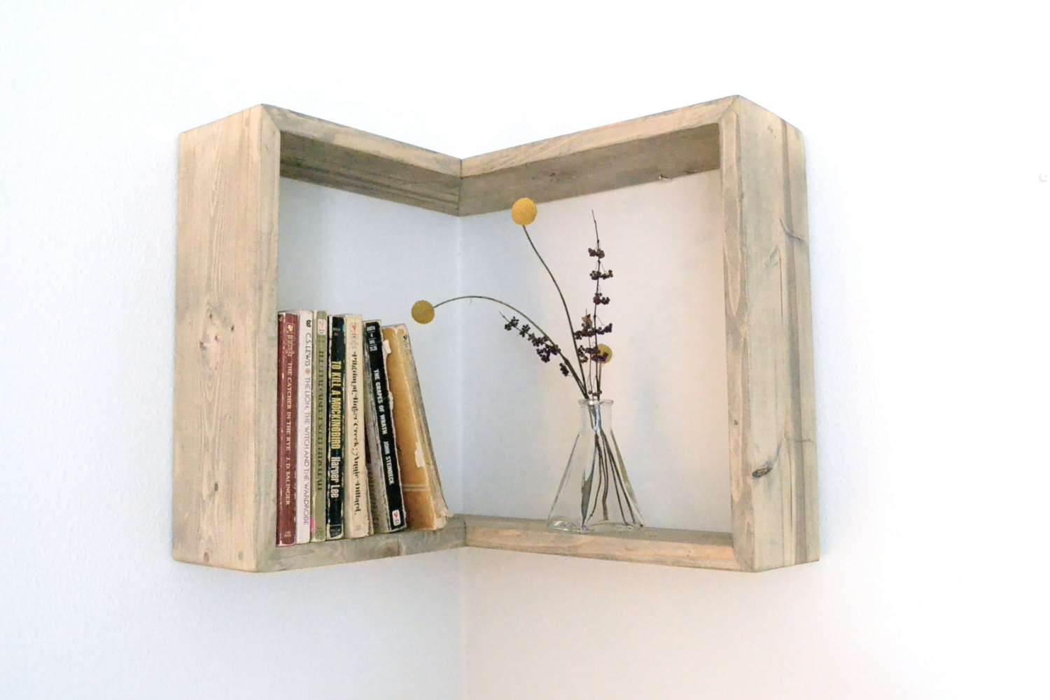 Build Shelves That Follow The Shape Of The Wall.