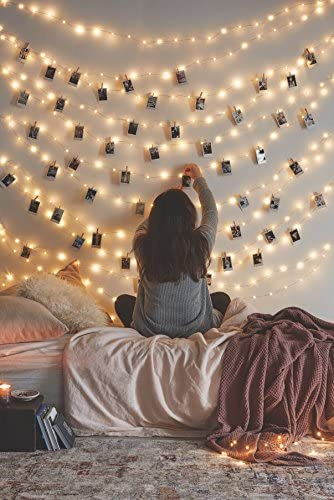66 Ft 200LEDs Waterproof Starry Fairy Copper - How You Can Use String Lights To Make Your Bedroom Look Dreamy