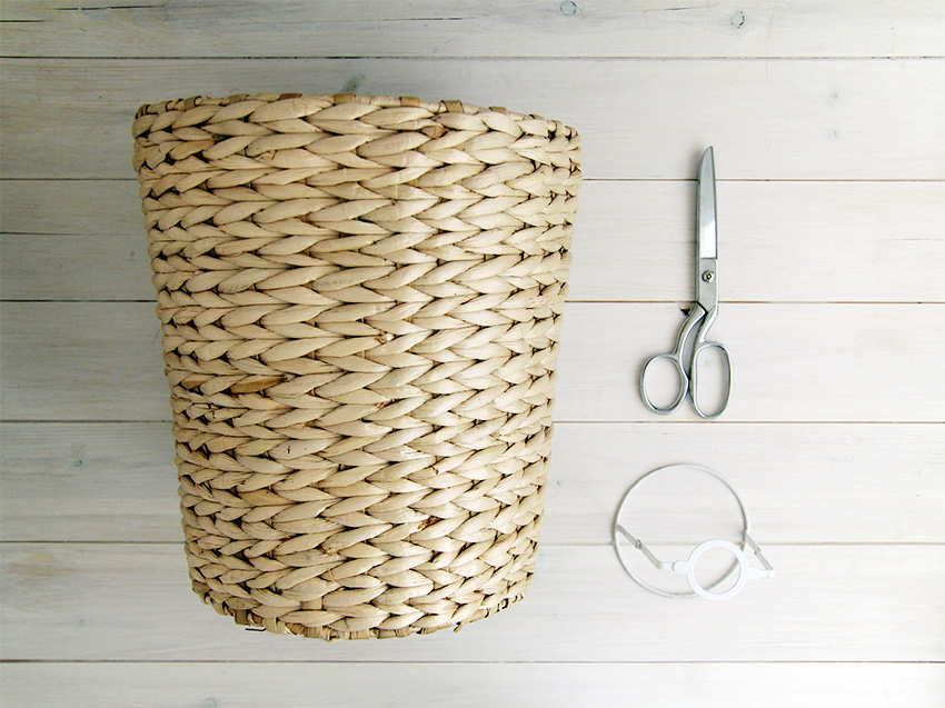 Diy woven basket lampshade mozeypictures Gallery