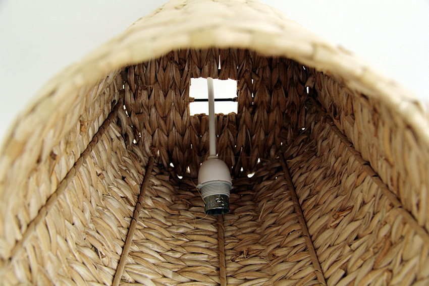 Basket Lampshade attach to light fitting