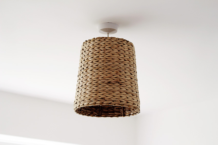 Basket Lampshade close up