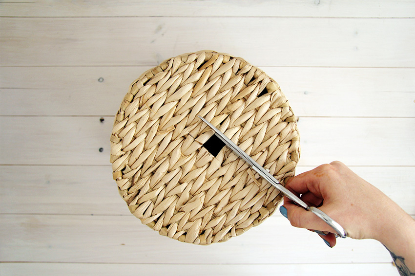 How To Weave A Basket Diy : Diy woven basket lampshade