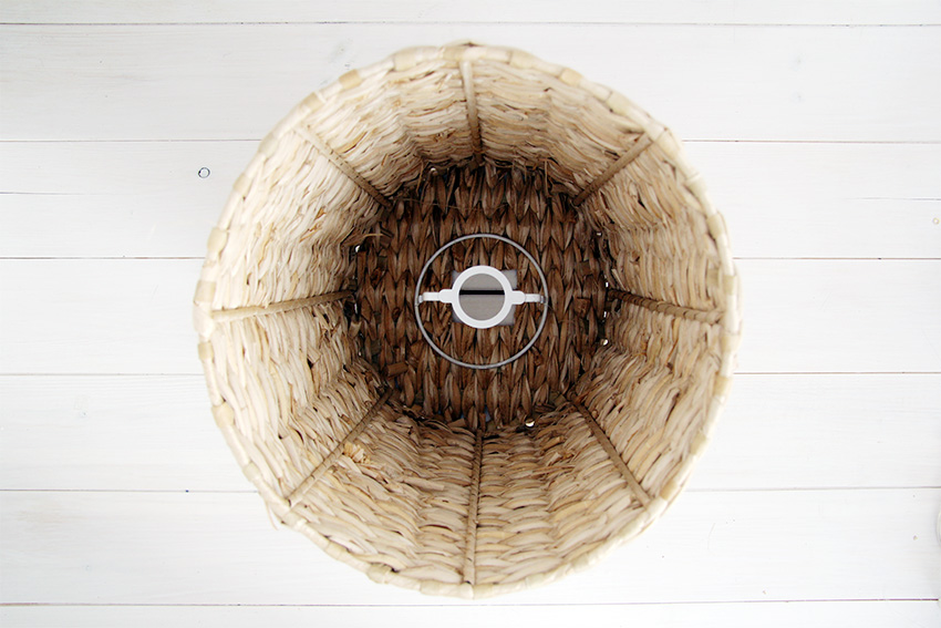 Basket Lampshade layout