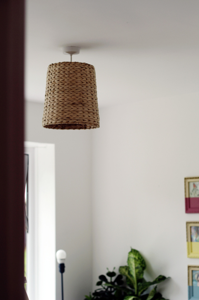 Diy woven basket lampshade mozeypictures Images