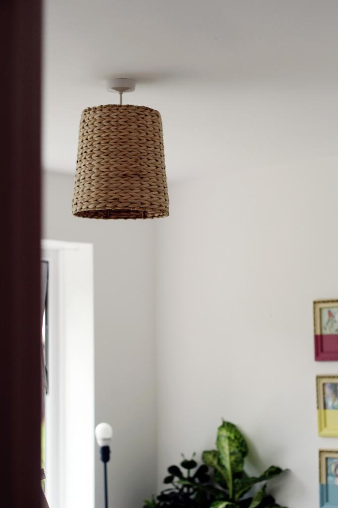 diy woven basket lampshade - Diy Lampshade