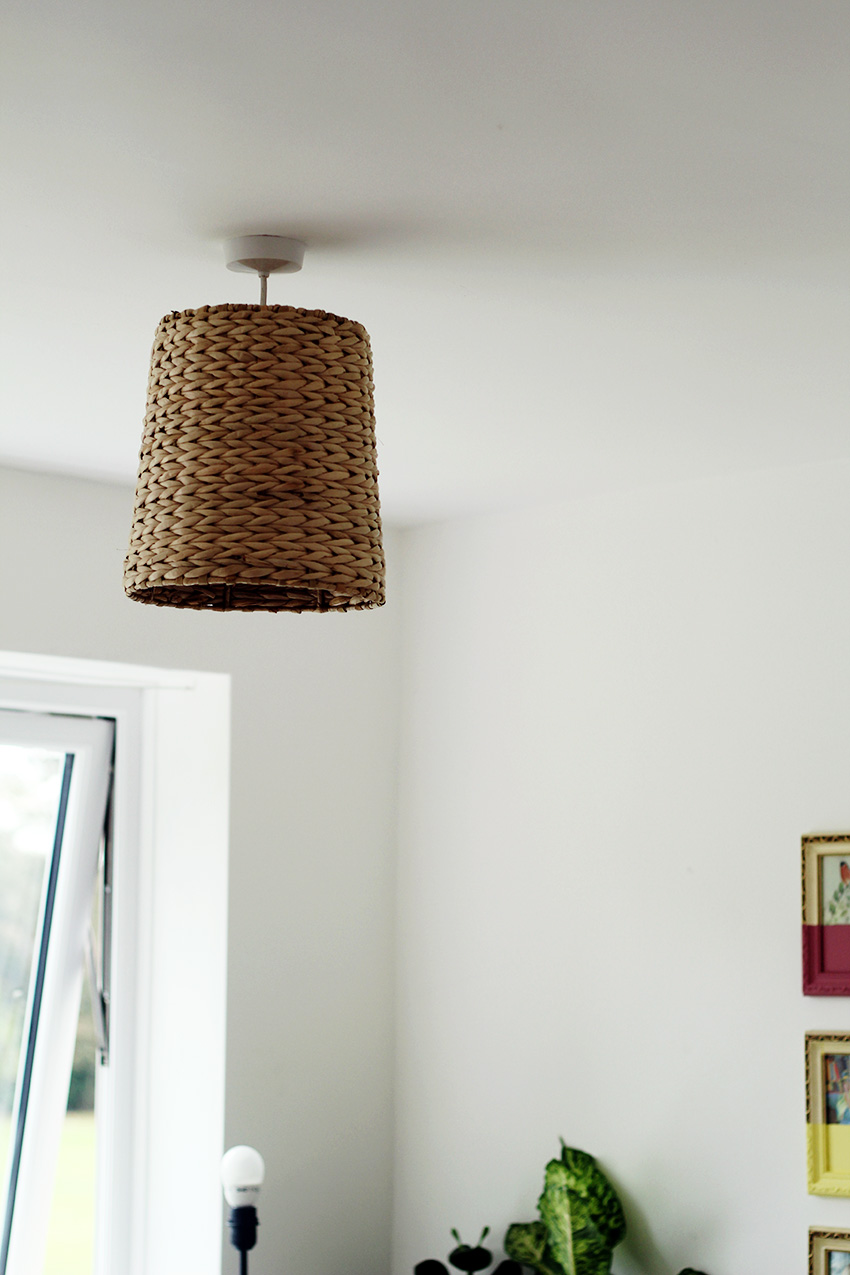Basket lampshade styling