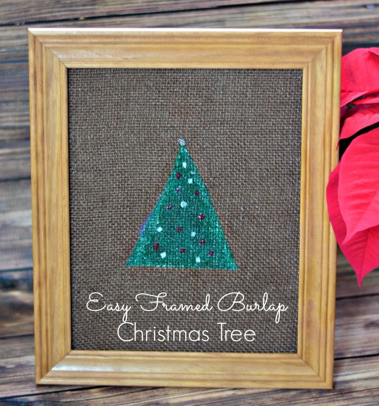 Easy diy crafts you can do with burlap framed burlap solutioingenieria Gallery