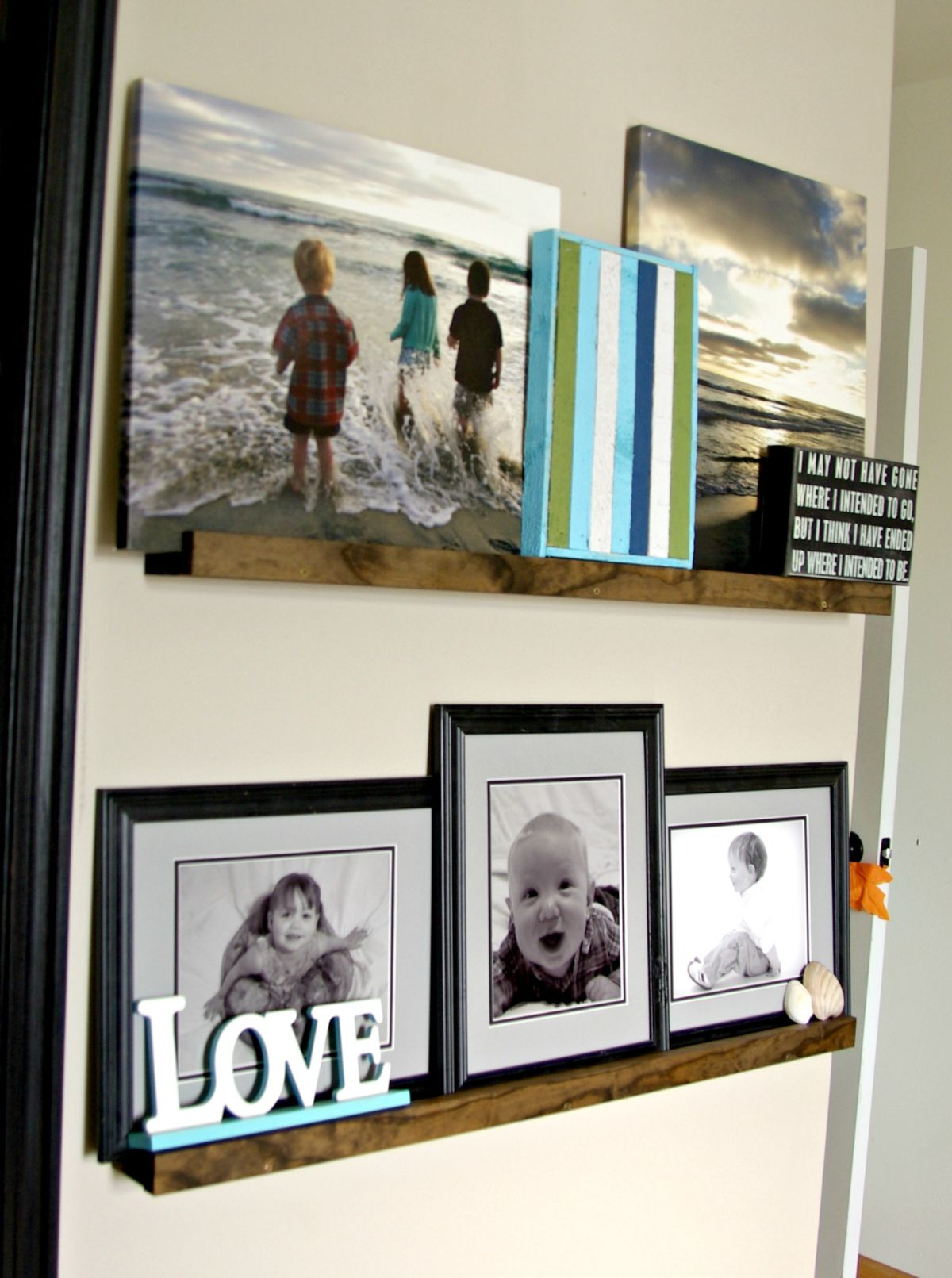 Awe Inspiring Diy Picture Ledge The Updates Gallery Wall Home Interior And Landscaping Dextoversignezvosmurscom
