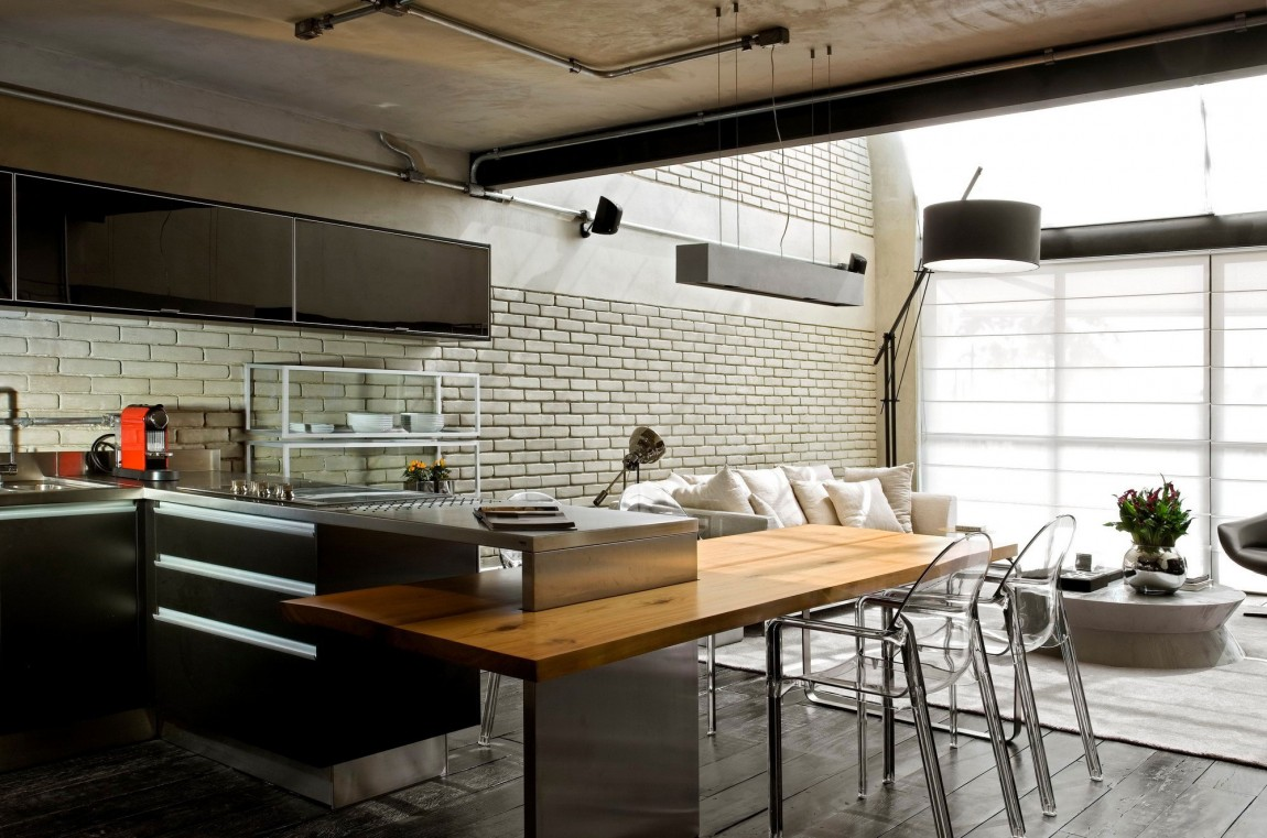 Industrial Chic Loft Features The Ideal Match Between Comfort And ...