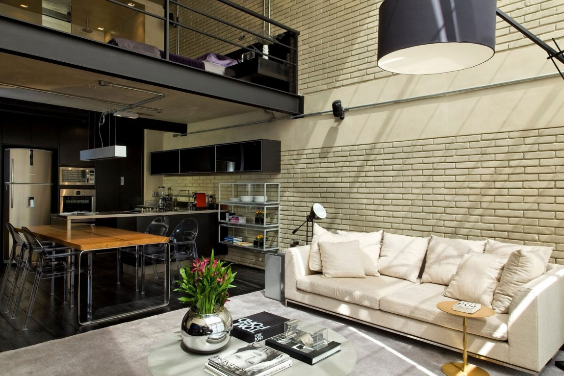 Industrial chic loft features the ideal match between comfort and functionality - Loft industriel deco ...