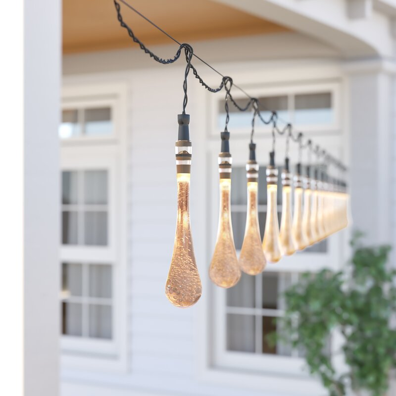 Kellison 20 Outdoor LED 30 Bulb Novelty String Light - How You Can Use String Lights To Make Your Bedroom Look Dreamy