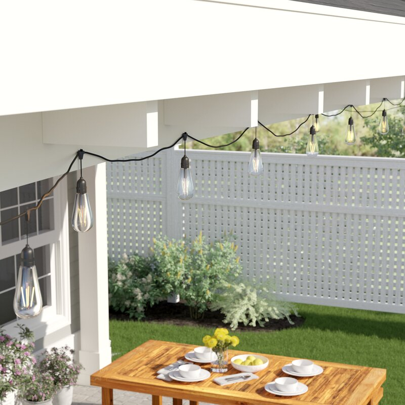 Outdoor 24 Bulb Standard String Light - How You Can Use String Lights To Make Your Bedroom Look Dreamy