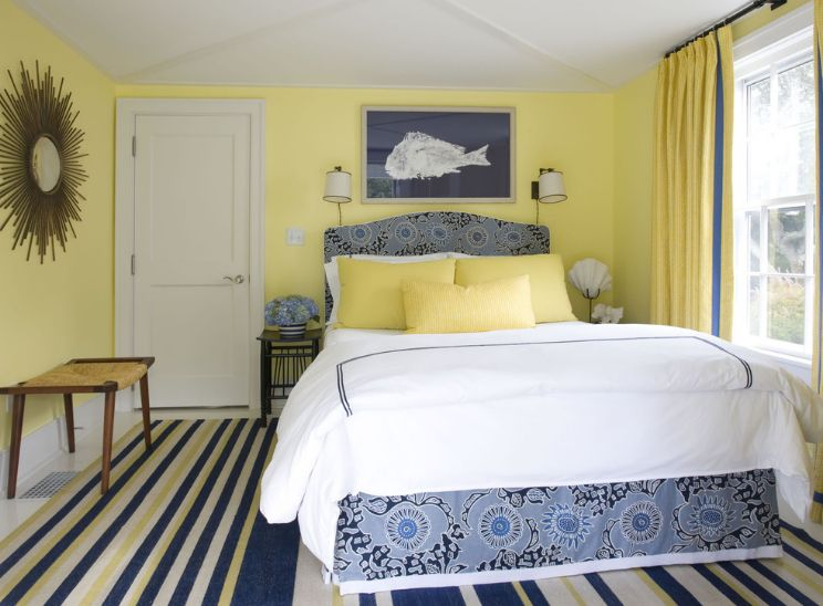 How You Can Use Yellow To Give Your Bedroom A Cheery Vibe: bright yellow wall paint