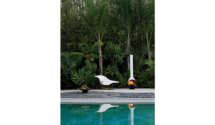 Put Your Malm Fireplace by a Pool