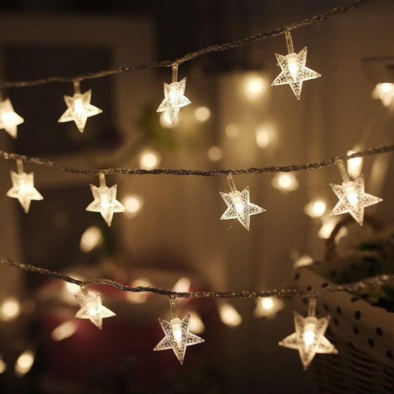 Twinkle Star 100 LED 49 FT Star String Lights - How You Can Use String Lights To Make Your Bedroom Look Dreamy