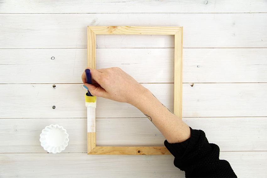 White washed picture frames first layer