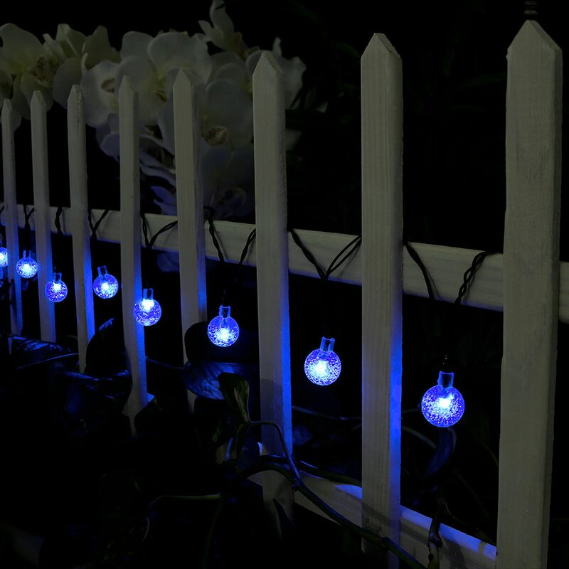 Wiltshire 20 ft. Outdoor LED Solar Powered - How You Can Use String Lights To Make Your Bedroom Look Dreamy