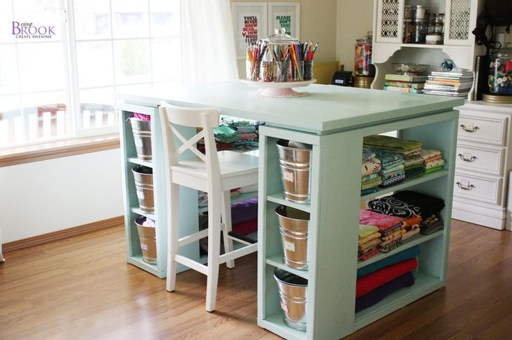 Craft Tables With Storage Attempting To Organize Your