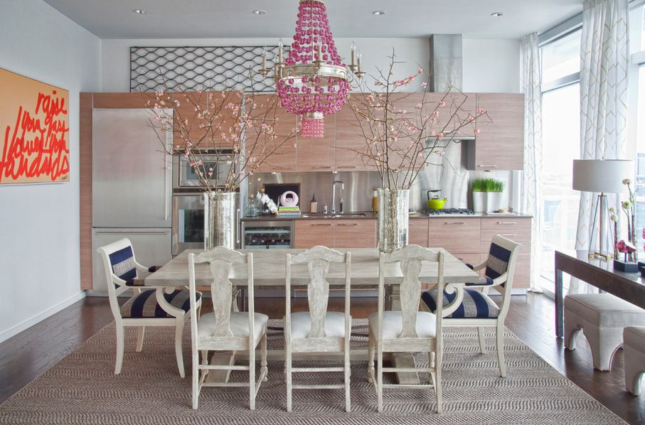 Look beyond the clichs 11 pink chandeliers with grown up charm aloadofball Images
