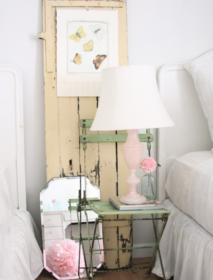 ... ethereal whites, create the perfect shabby chic bedroom palette