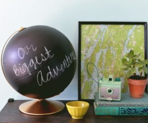 DIY Chalkboard Globe for Kids