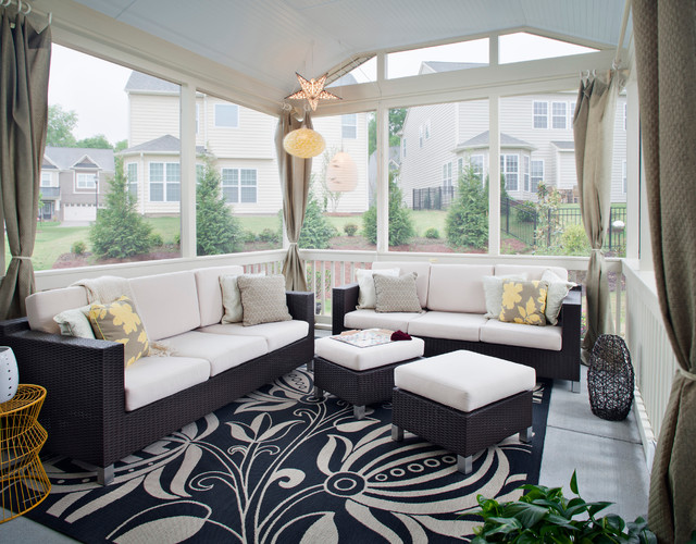 French Door & Window Curtains for your Patio: Ideas ... on Small Enclosed Patio Ideas id=13813