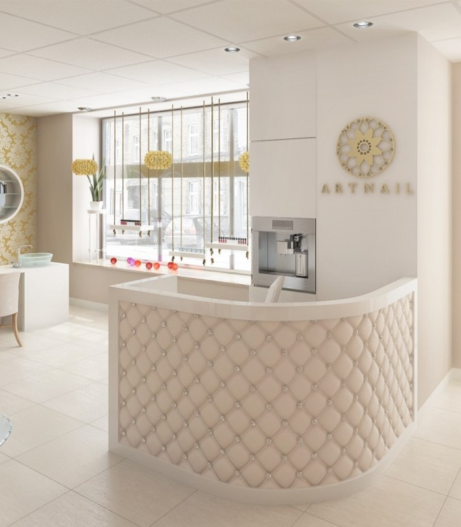 Modern Salon Reception Desk Designs