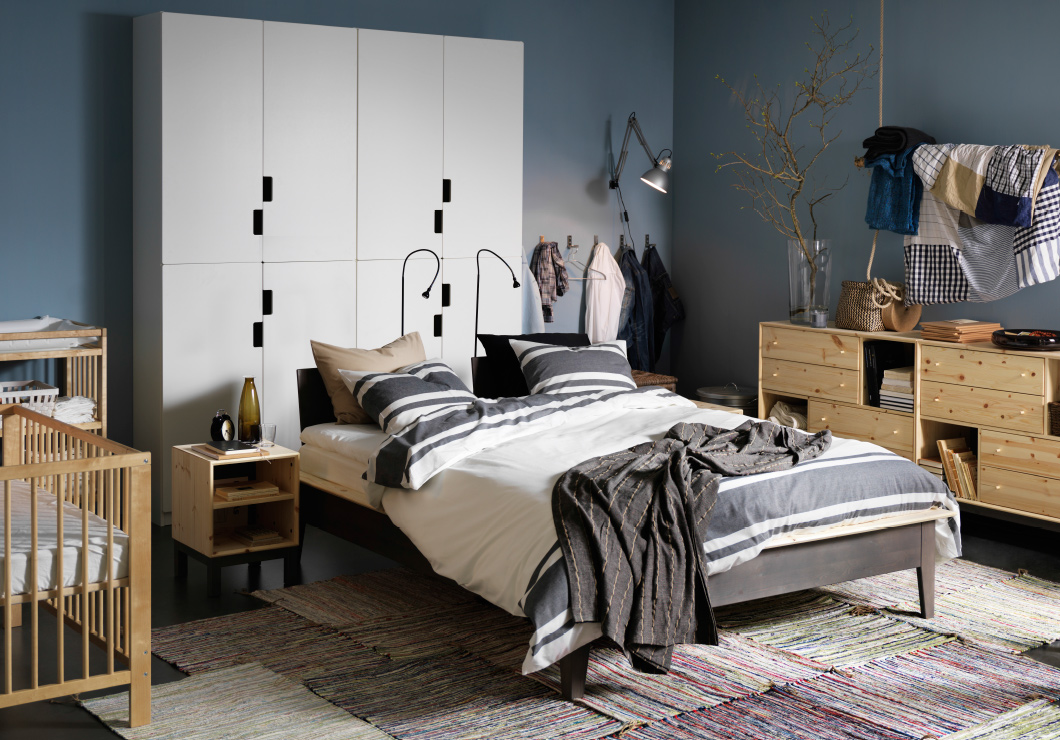 45 ikea bedrooms that turn this into your favorite room of the house. Black Bedroom Furniture Sets. Home Design Ideas