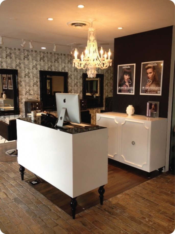50 reception desks featuring interesting and intriguing for Salon stand