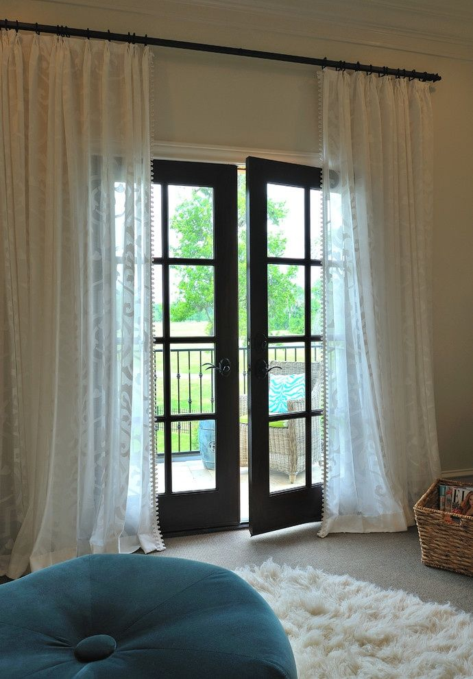 Black French Doors Patio french door & window curtains for your patio: ideas & inspiration