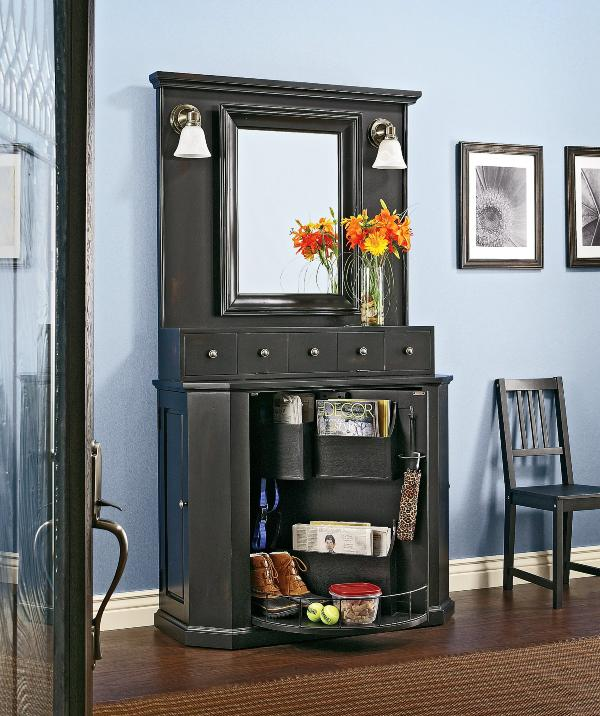 Foyer Mirror Cabinet : Best ideas for entryway storage