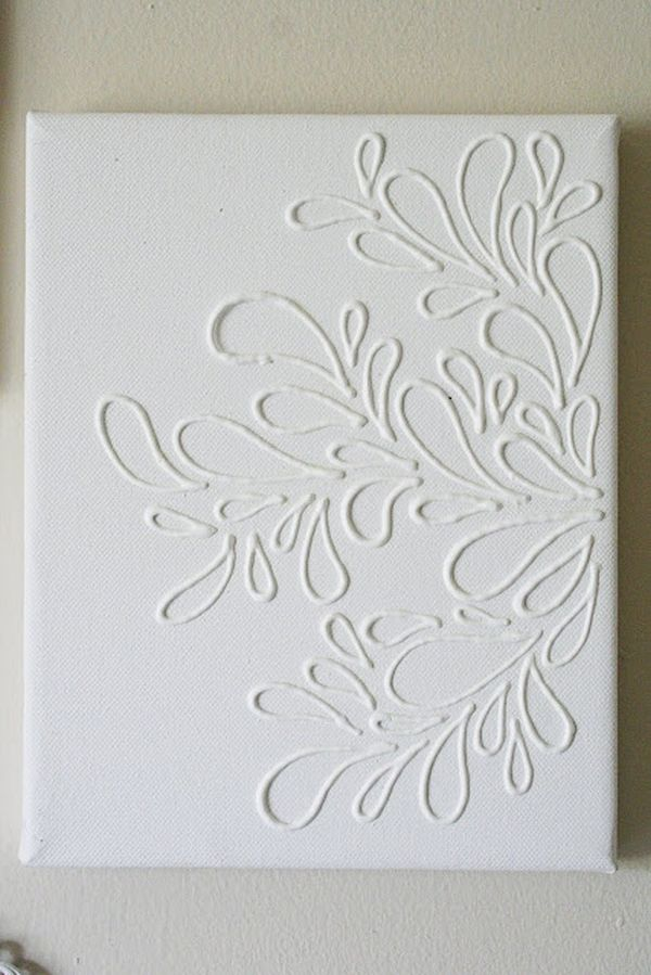 white puffy designs - Canvas Design Ideas