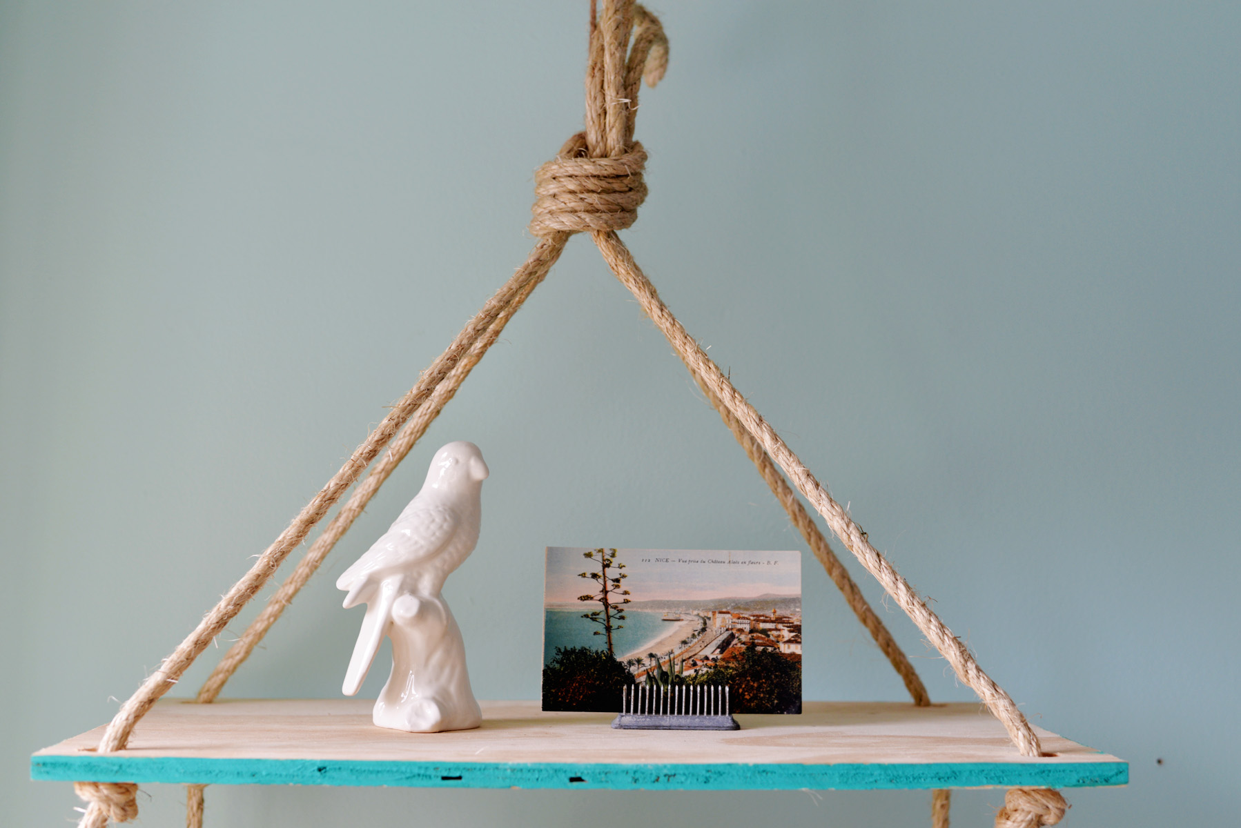 hanging rope shelf DIY