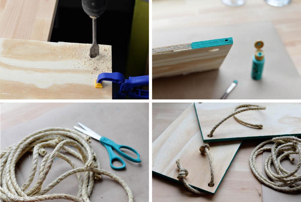 hanging rope shelf tutorial