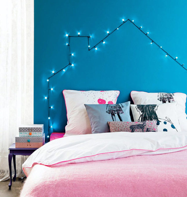 How You Can Use String Lights To Make Your Bedroom Look Dreamy - String lights for girls bedroom