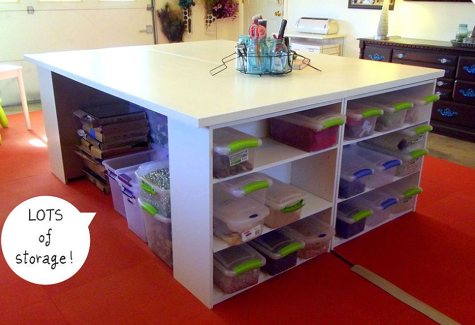Craft tables with storage attempting to organize your creativity solutioingenieria Images