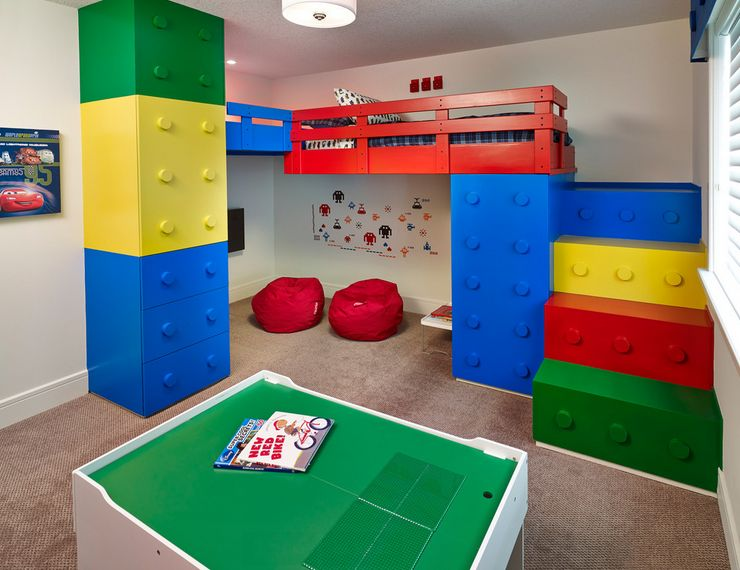 Lego inspired furniture and designs with nostalgic flair for Room decor for 5 year old boy