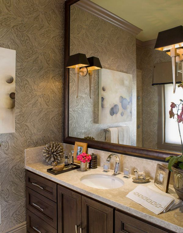 Rise And Shine Bathroom Vanity Lighting Tips - Sconces mounted on bathroom mirror