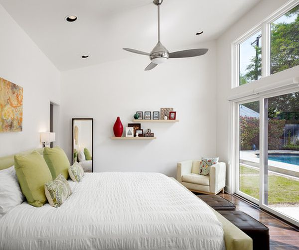 Retro accents with lots of personality for Bedroom ceiling fans