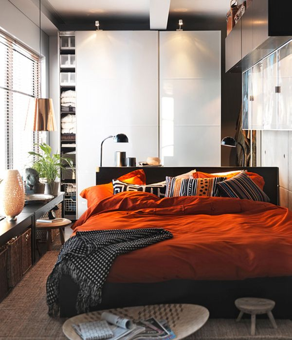 45 ikea bedrooms that turn this into your favorite room of 12529 | modern ikea bedroom bedding orange
