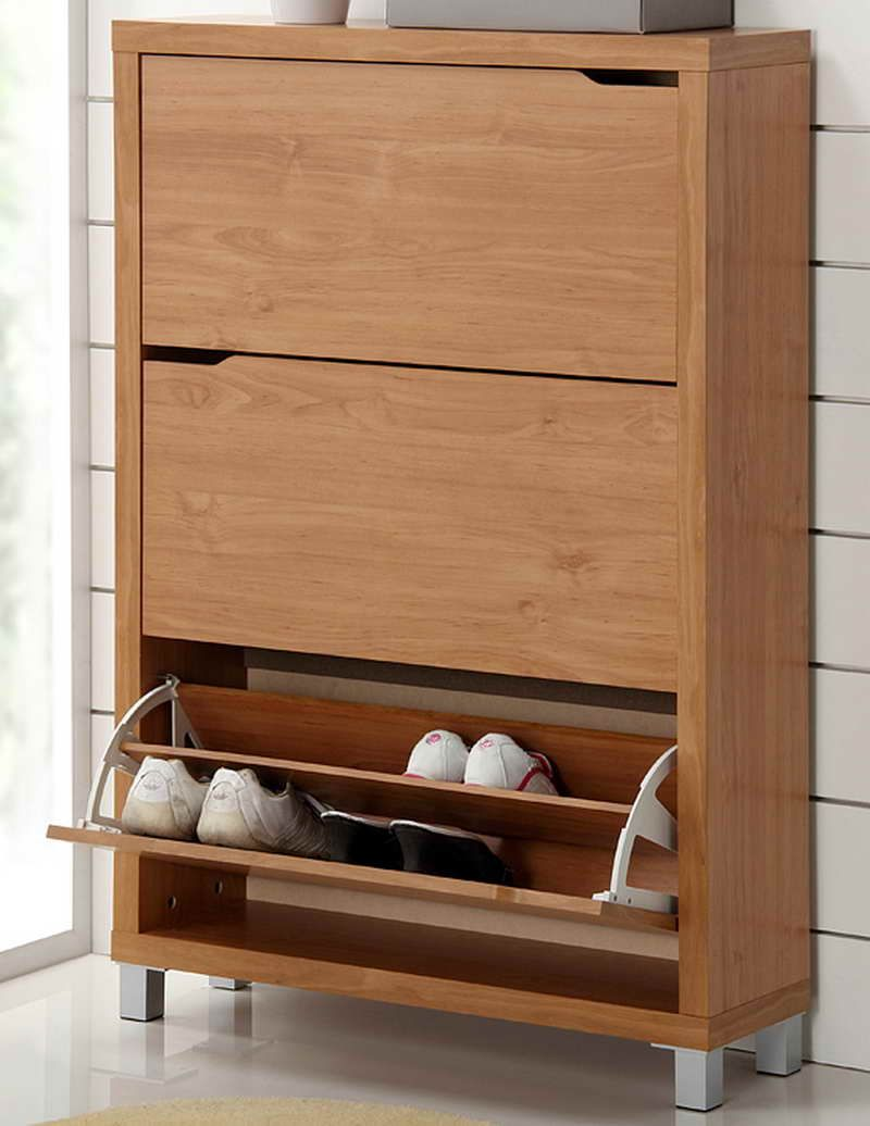 1. Modern & Wooden. - 20 Shoe Storage Cabinets That Are Both Functional & Stylish