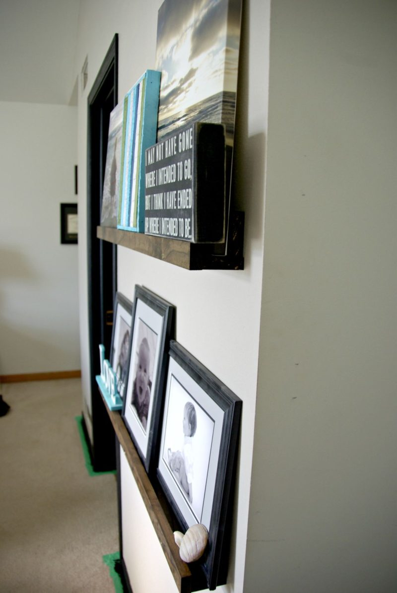 DIY Picture Ledge, The Updates Gallery Wall