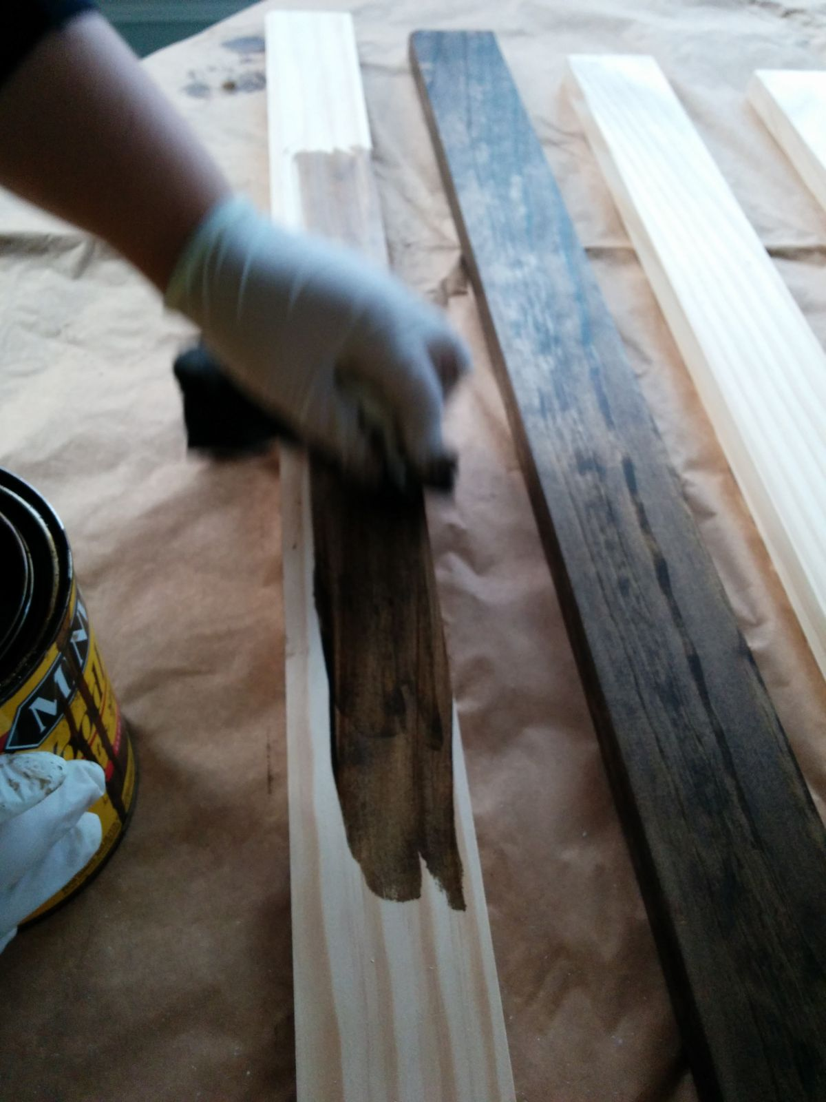 Wood stain process