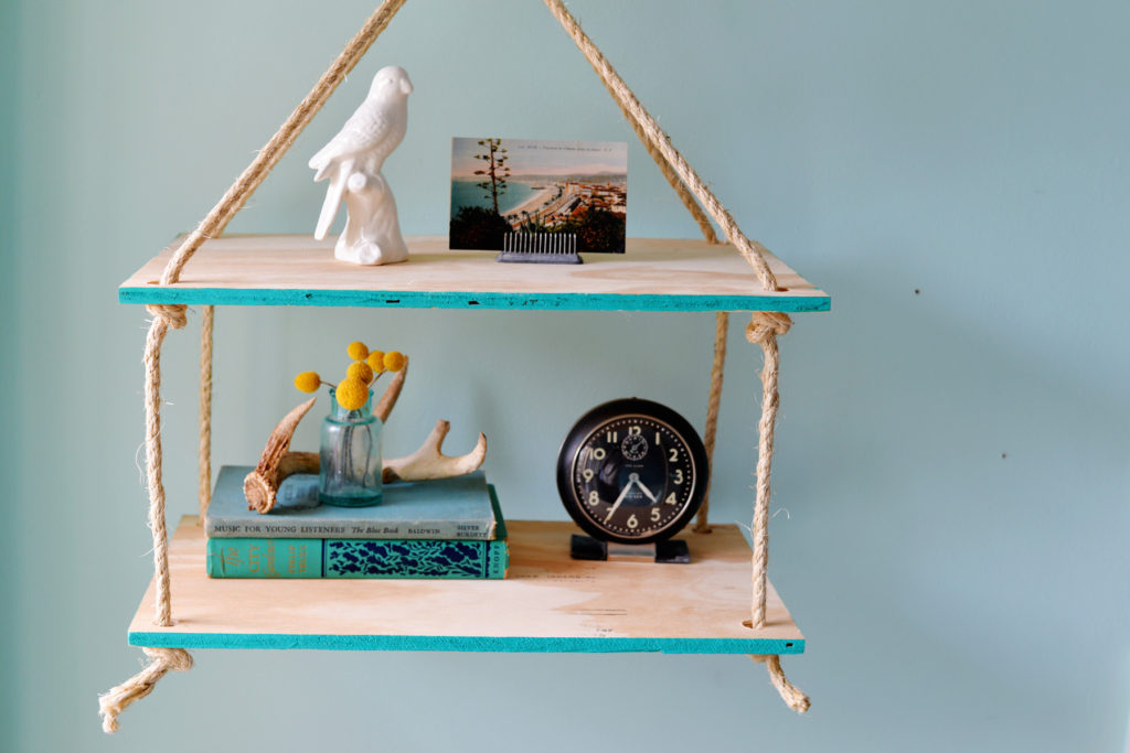 rope shelf DIY