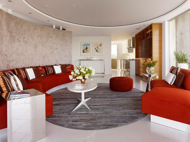 round living room furniture. 4. Align It With A Curved Wall Round Living Room Furniture E